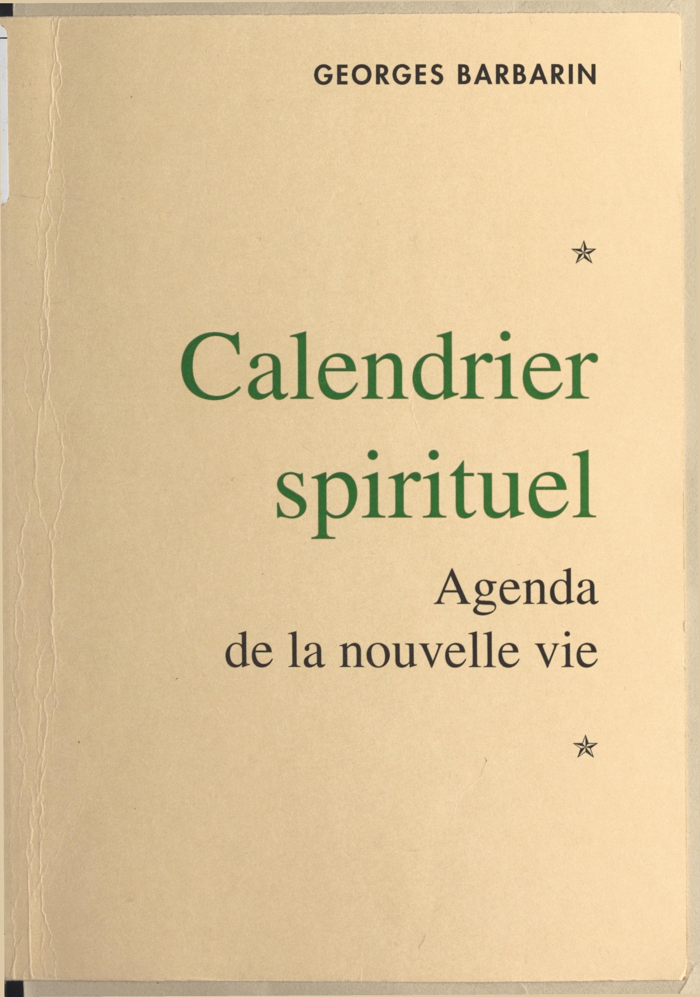 Calendrier spirituel