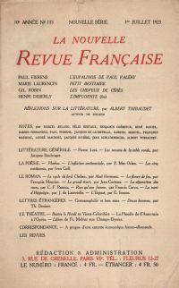 La Nouvelle Revue Française N' 118 (Juillet 1923)