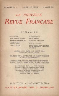 La Nouvelle Revue Française N' 71 (Aoűt 1919)