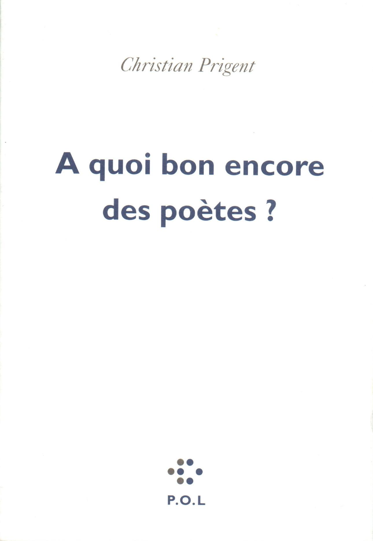 À quoi bon encore des poètes?