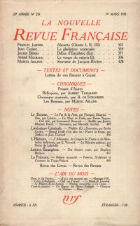 La Nouvelle Revue Française N° 258 (Mars 1935)