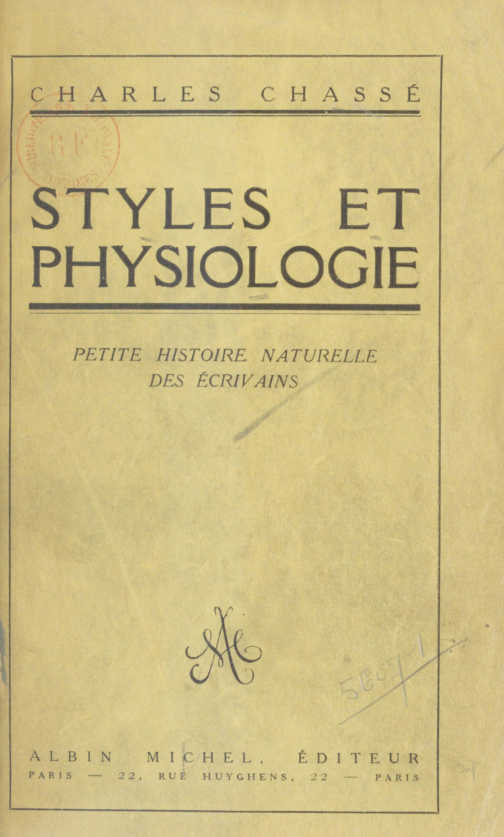 Styles et physiologie, PETITE HISTOIRE NATURELLE DES ÉCRIVAINS