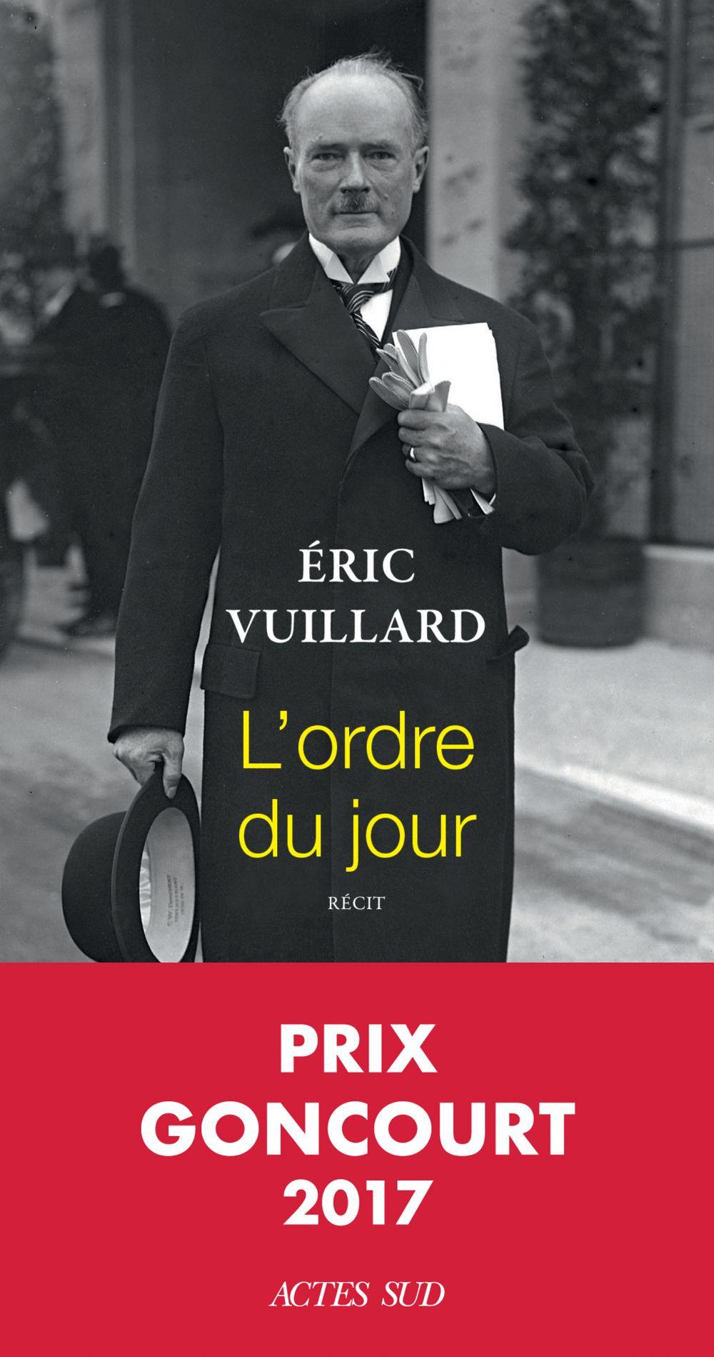 L'ordre du jour | Vuillard, Eric. Auteur