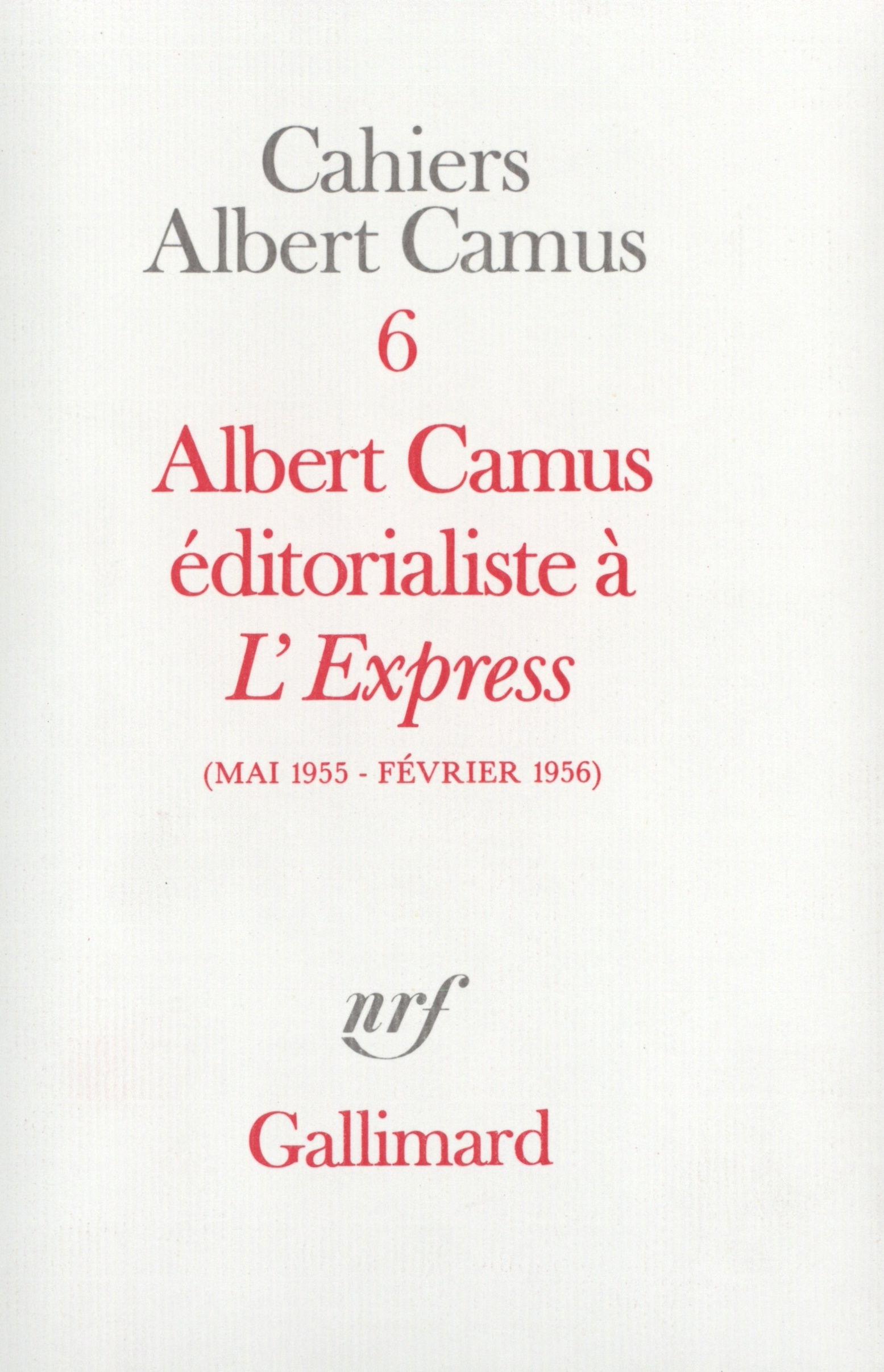 Albert Camus éditorialiste ...