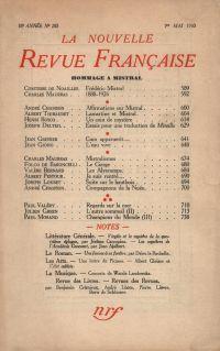 Hommage ŕ Mistral N' 200 (Mai 1930)