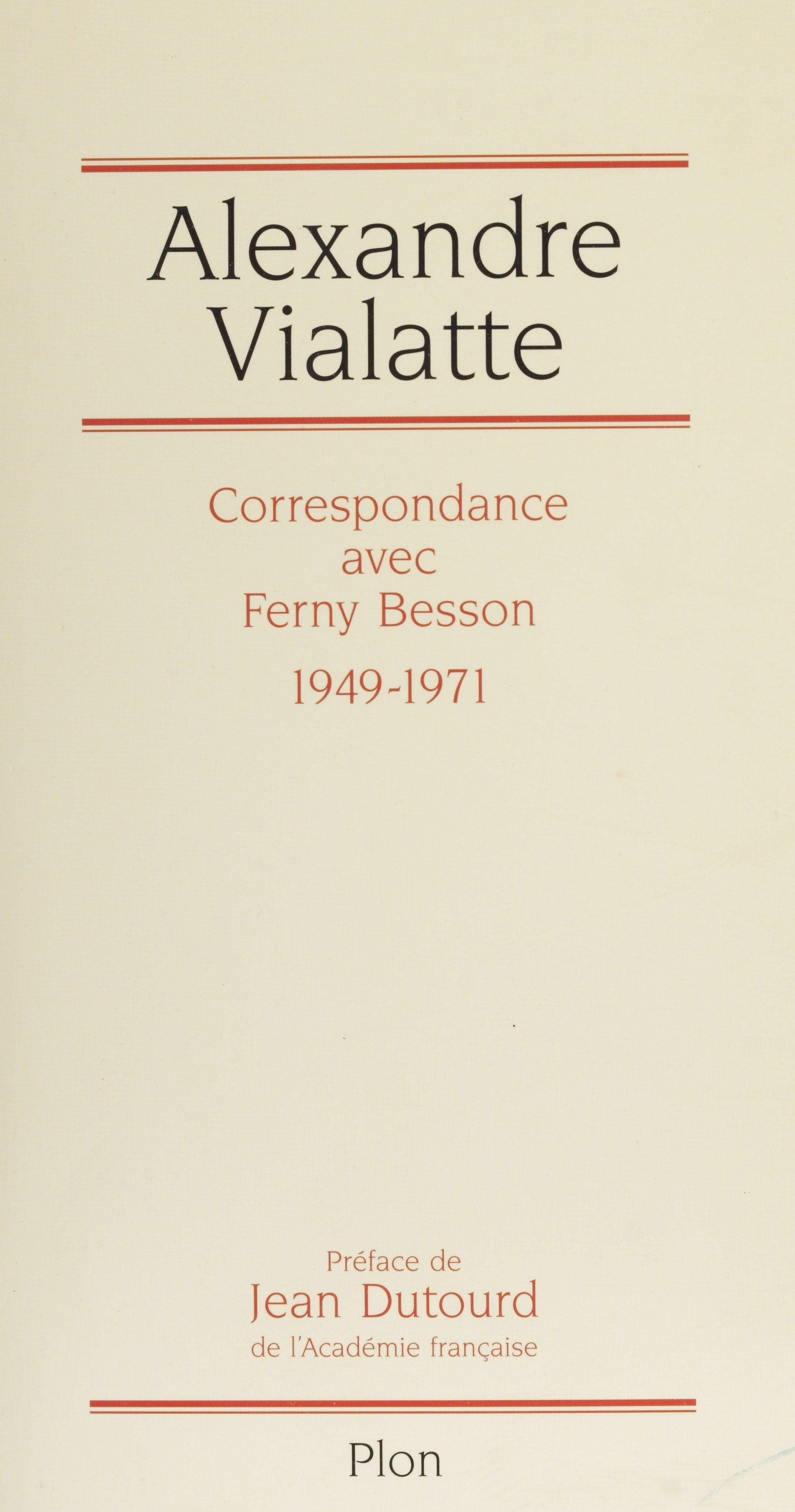 Correspondance avec Ferny B...