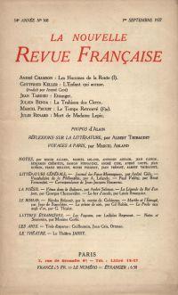 La Nouvelle Revue Française N' 168 (Septembre 1927)