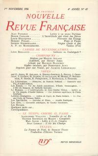 La Nouvelle Nouvelle Revue Française N' 47 (Novembre 1956)