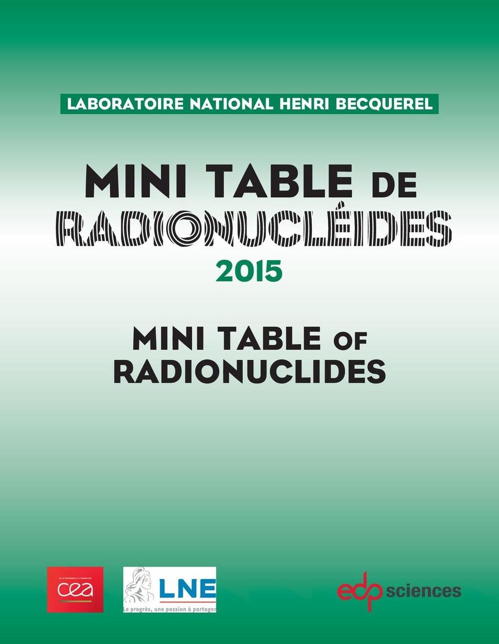 Mini Table de radionucléides 2015
