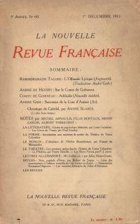 La Nouvelle Revue Française N' 60 (Décembre 1913)