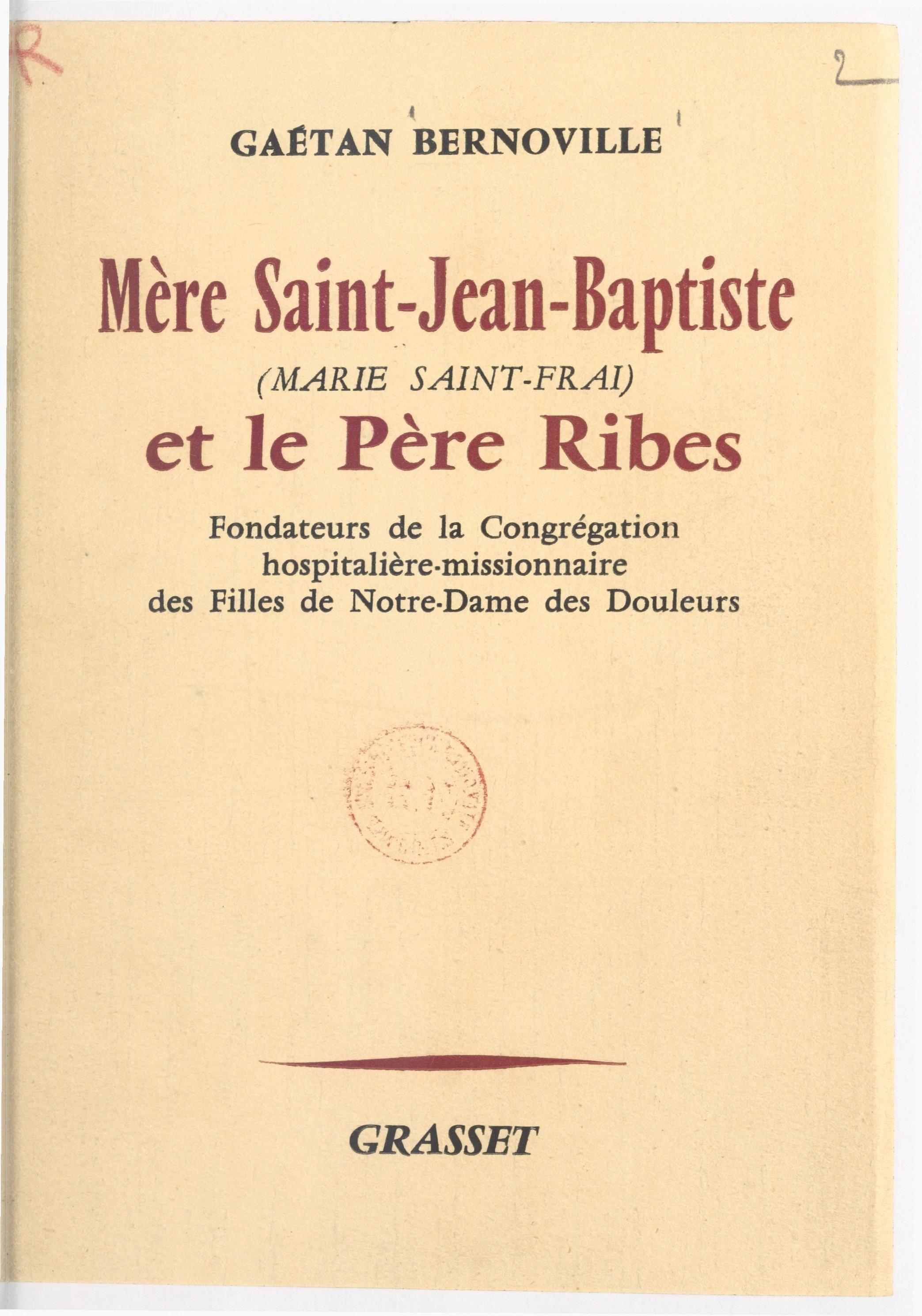Mère Saint-Jean-Baptiste (M...