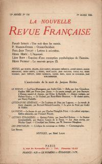 La Nouvelle Revue Française N' 150 (Mars 1926)
