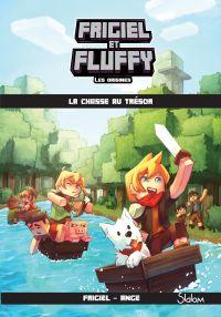 Image de couverture (Frigiel et Fluffy : Les Origines, tome 1 : La chasse au trésor – Minecraft)