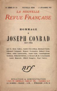 Hommage ŕ Joseph Conrad (1857-1924) N' 135 (Décembre 1924)