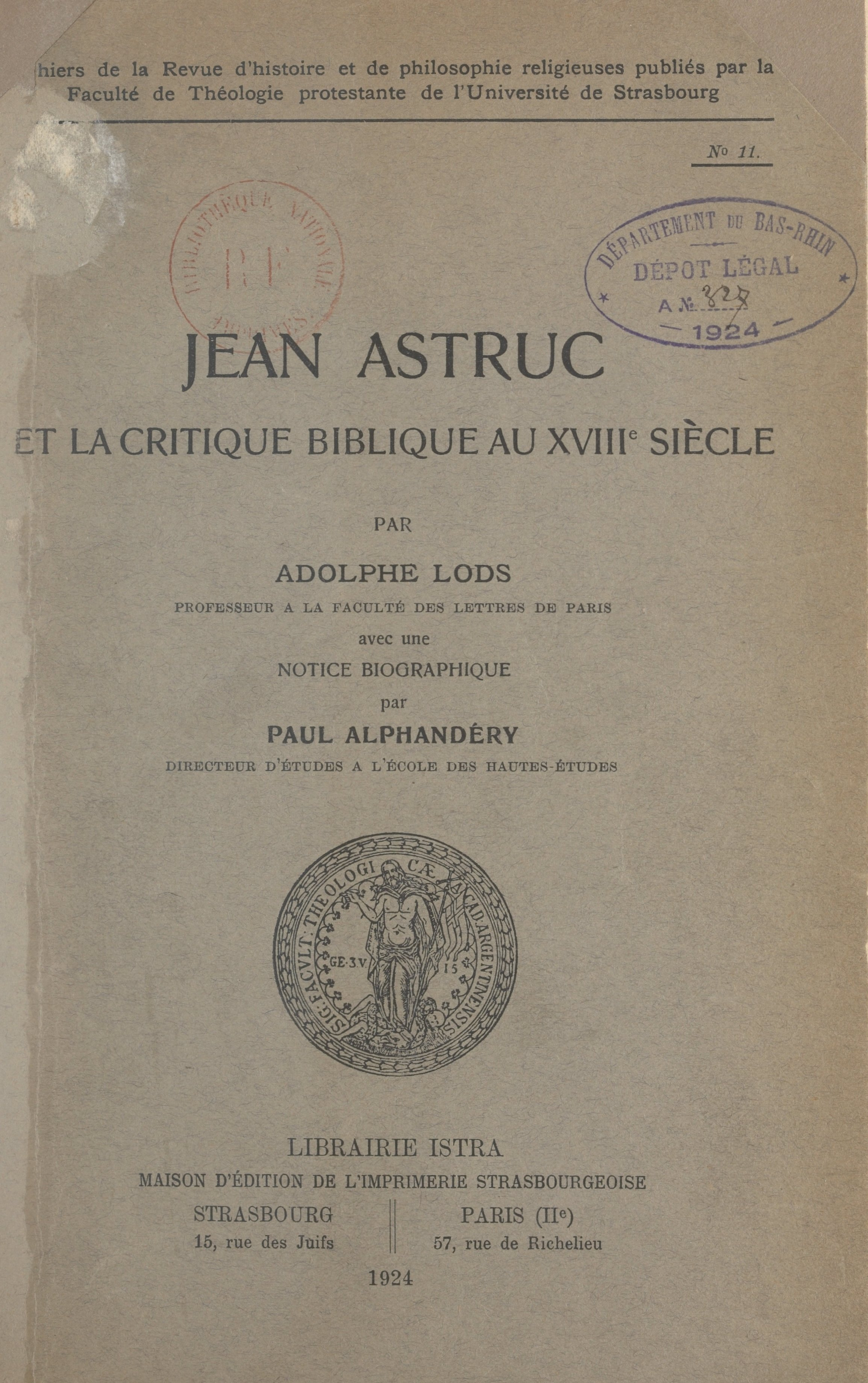 Jean Astruc et la critique ...