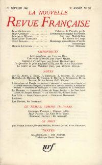 La Nouvelle Revue Française N' 98 (Février 1961)