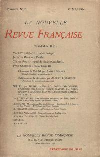La Nouvelle Revue Française N' 65 (Mai 1914)
