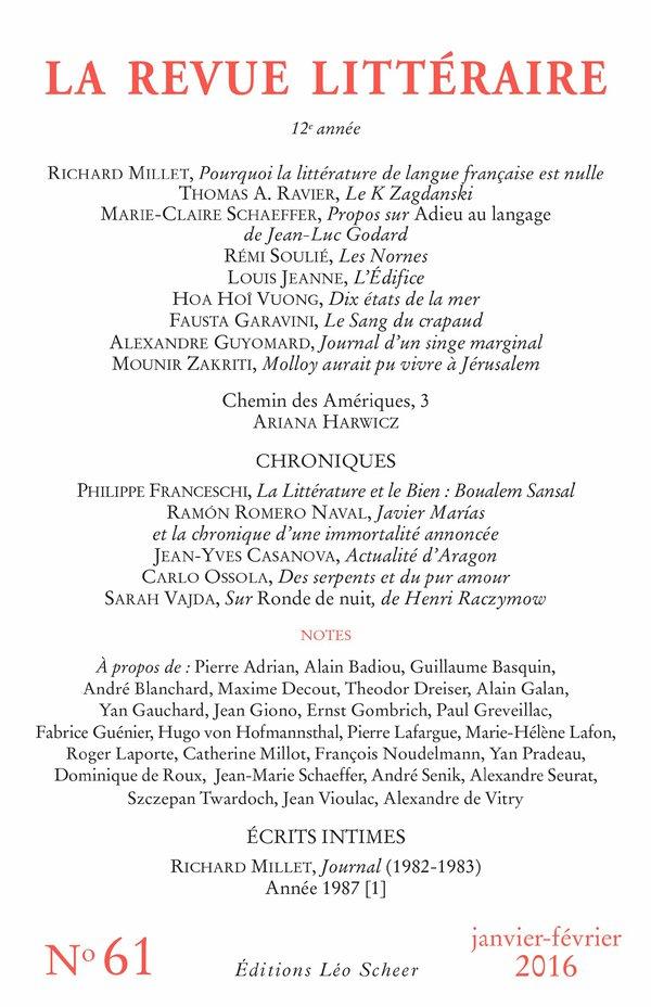 La Revue Littéraire N°61