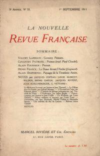 La Nouvelle Revue Française N' 33 (Septembre 1911)