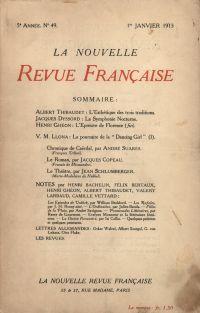 La Nouvelle Revue Française N' 49 (Janvier 1913)