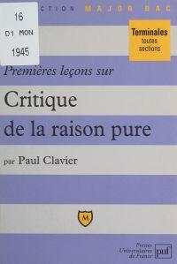 Premières leçons sur Critiq...