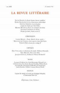 La Revue Littéraire N°14