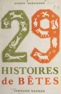 29 histoires de bêtes