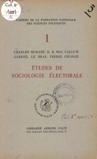 Etudes de sociologie électo...