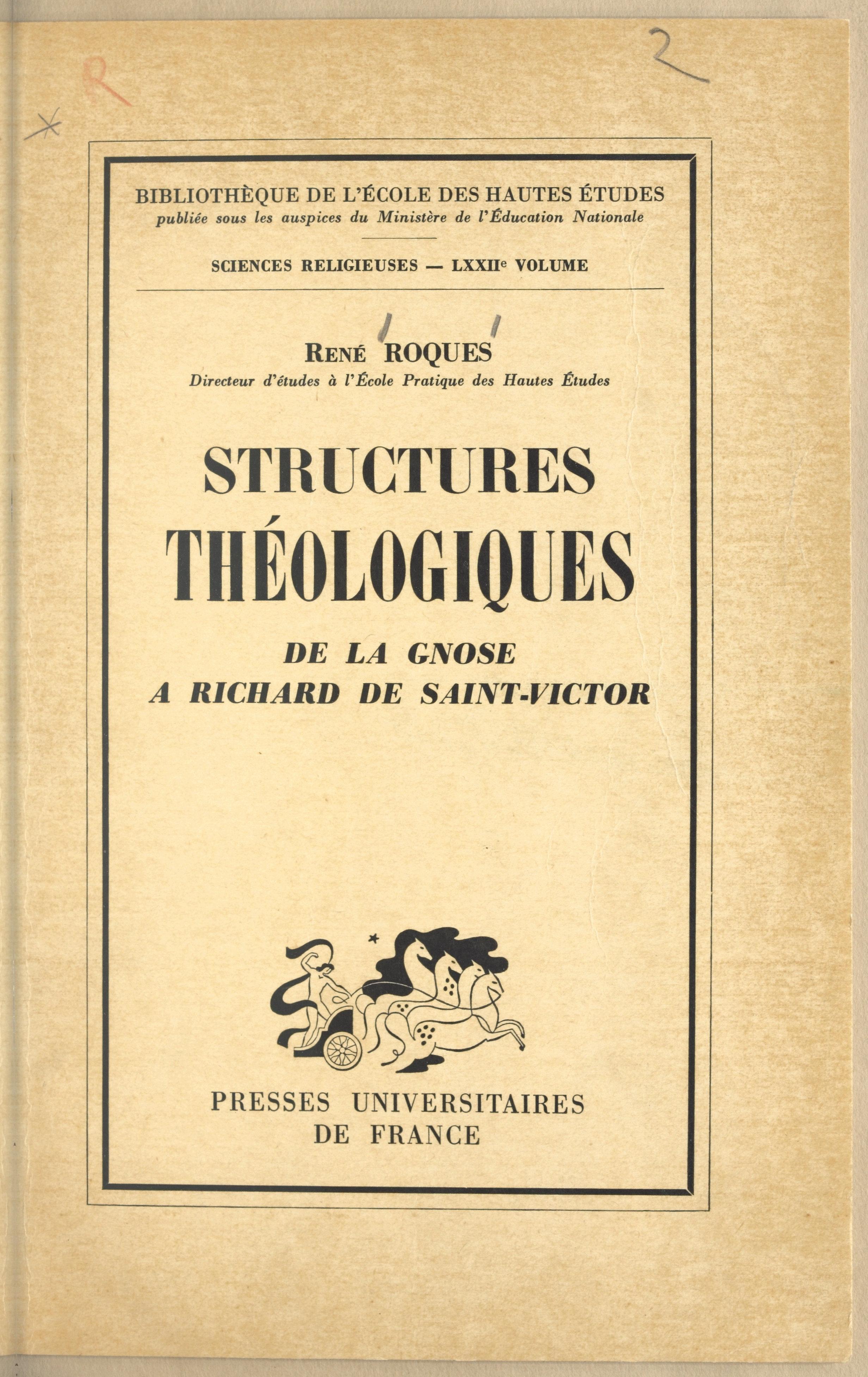Structures théologiques : d...