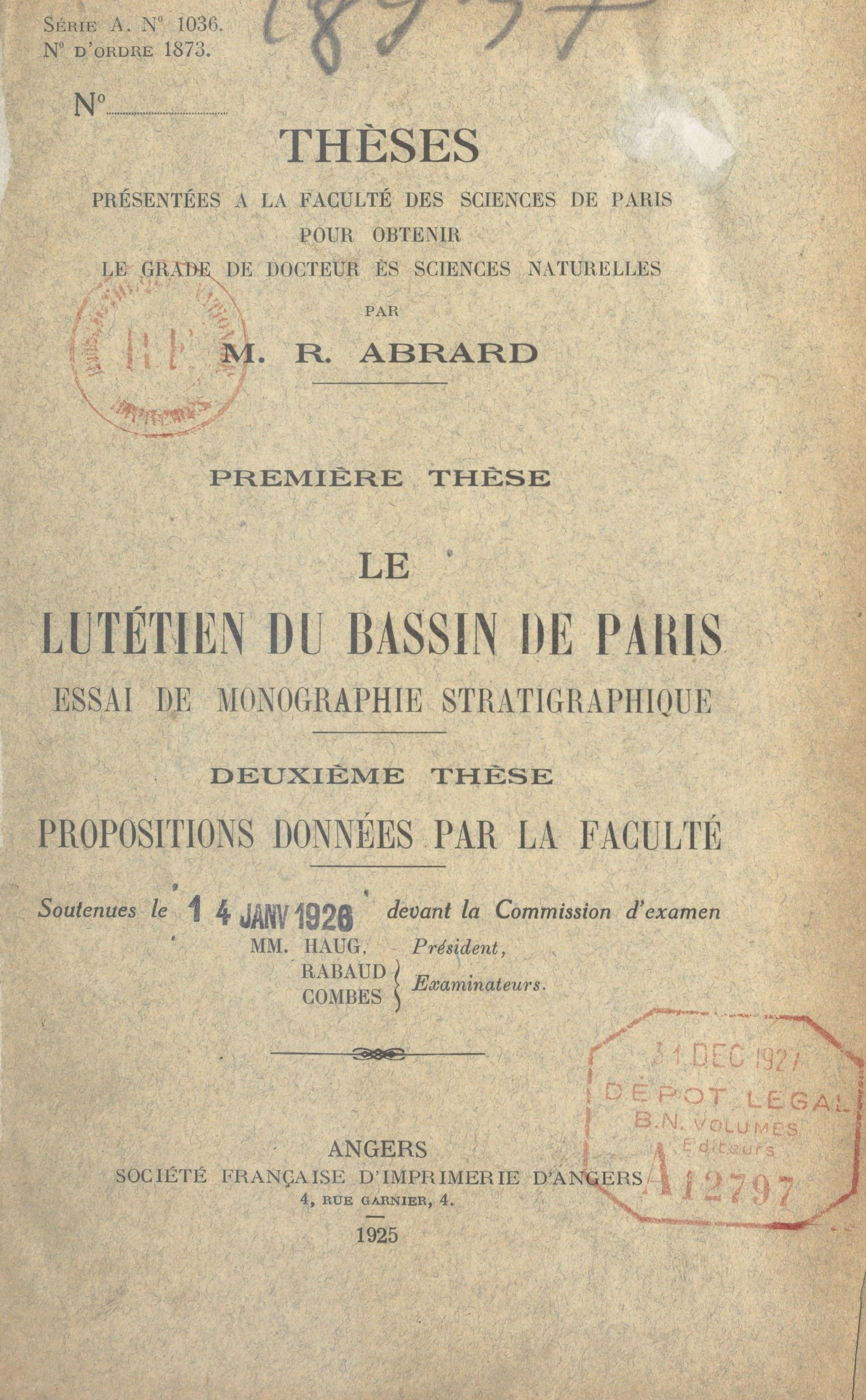 Le lutétien du bassin de Paris