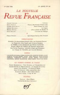 La Nouvelle Revue Française N' 161 (Mai 1966)