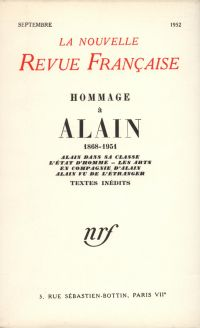Hommage ŕ Alain N' (Septembre 1952)