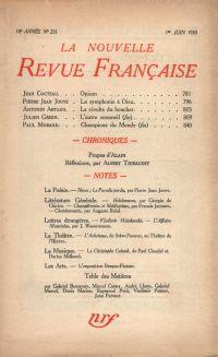La Nouvelle Revue Française N' 201 (Juin 1930)