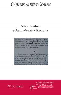 Cahiers Albert Cohen N°17