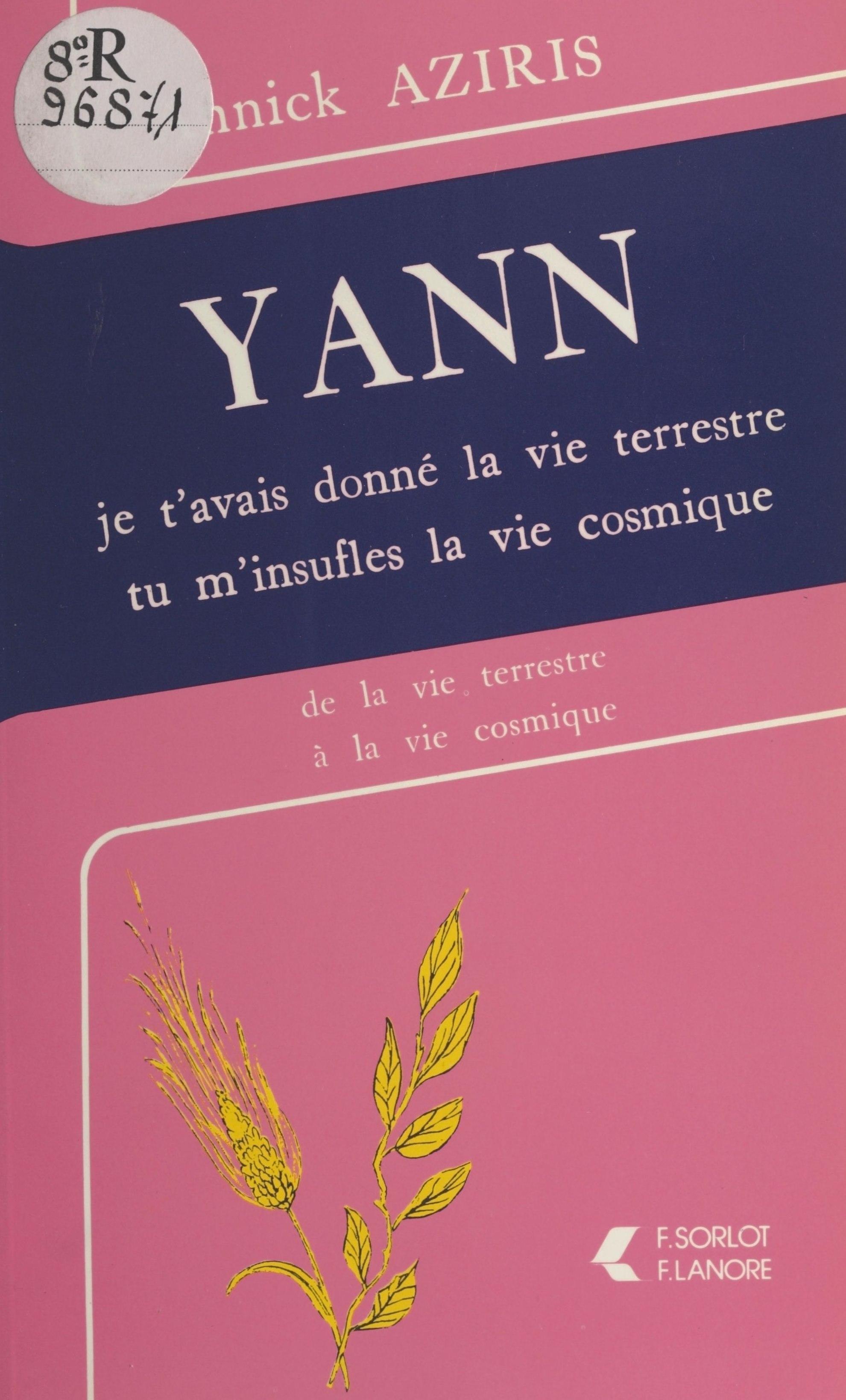 Yann : je t'avais donné la ...
