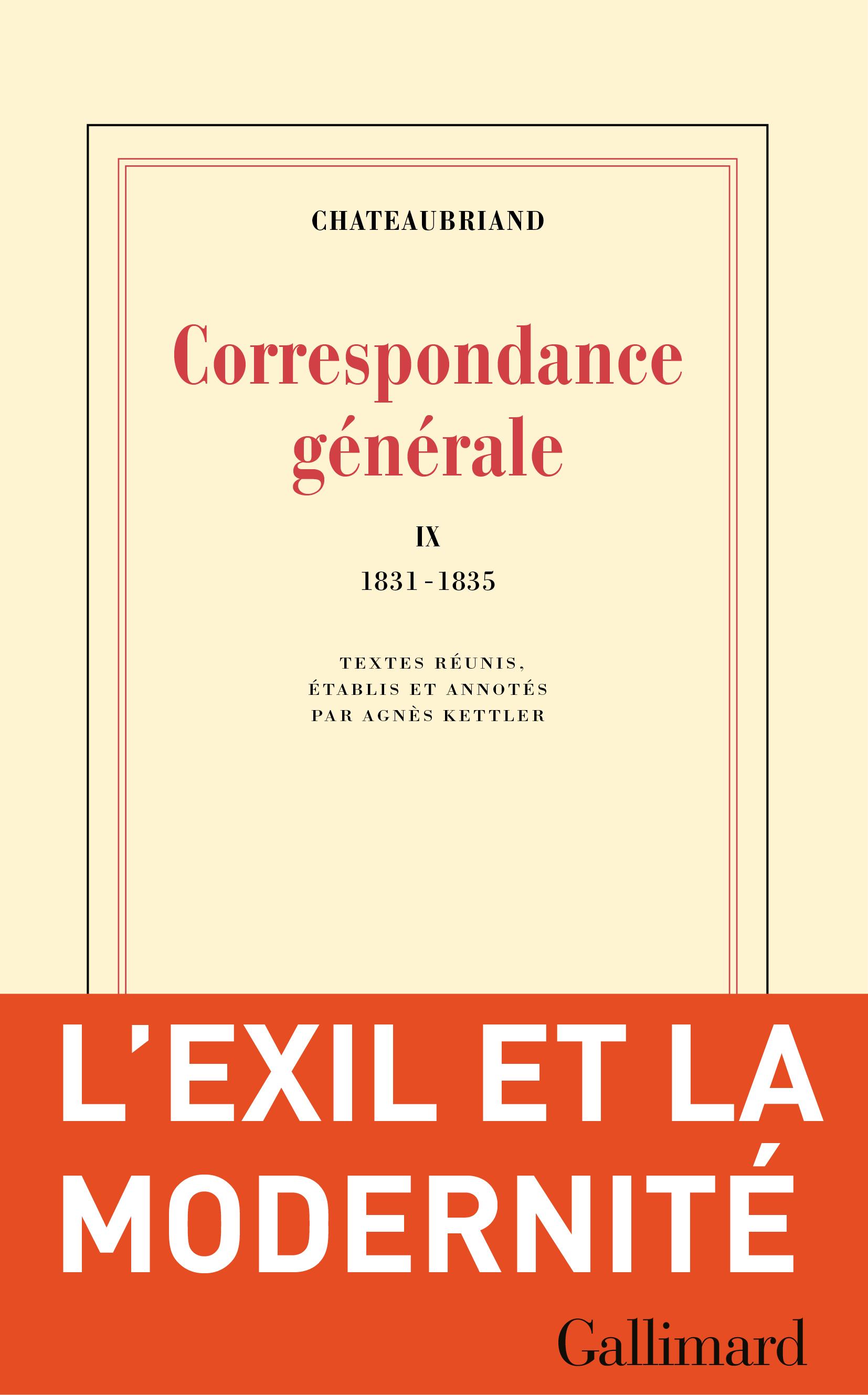Correspondance g?n?rale (Tome IX) - 1831-1835