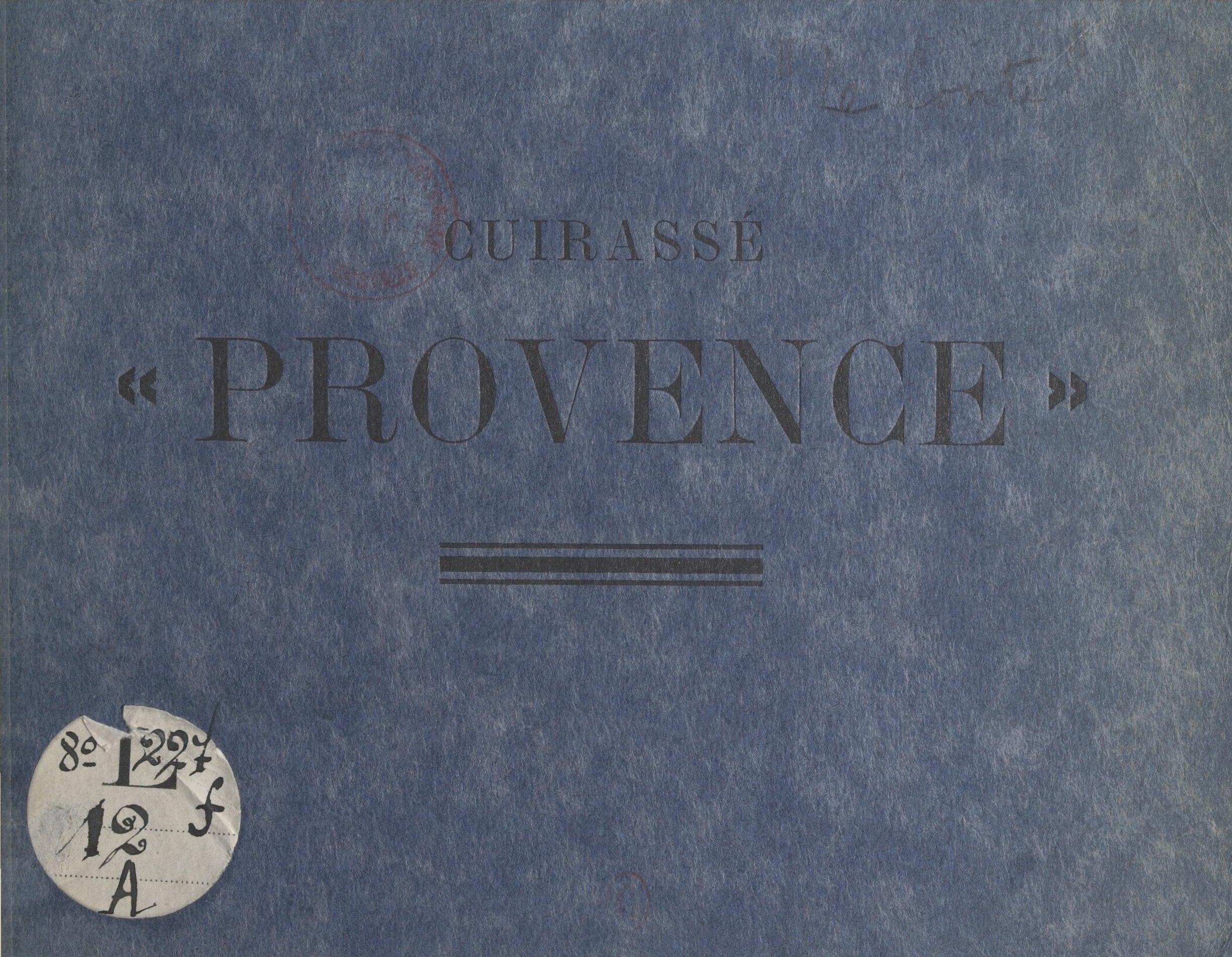 """Le livre d'or du cuirassé """"Provence"""""""