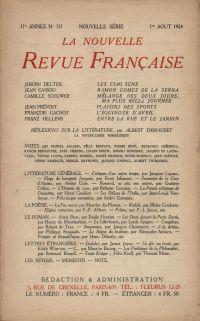 La Nouvelle Revue Française N' 131 (Aoűt 1924)