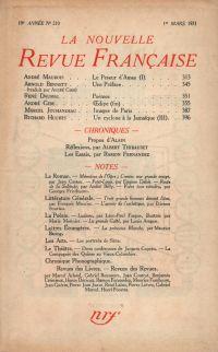 La Nouvelle Revue Française N' 210 (Mars 1931)