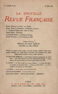 La Nouvelle Revue Française N' 176 (Mai 1928)