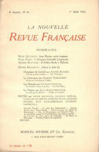 La Nouvelle Revue Française N' 41 (Mai 1912)