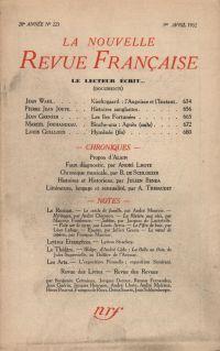 La Nouvelle Revue Française N° 223 (Avril 1932)