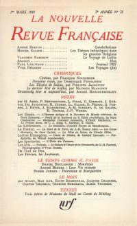 La Nouvelle Revue Française N' 75 (Mars 1959)