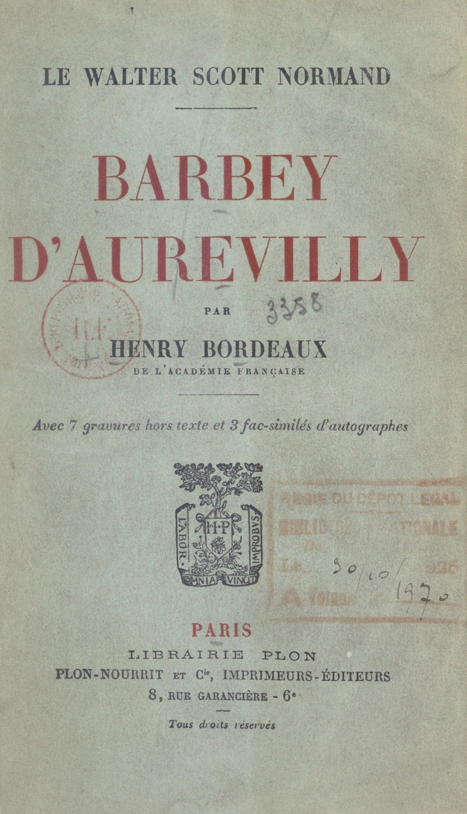 Barbey d'Aurevilly, le Walt...