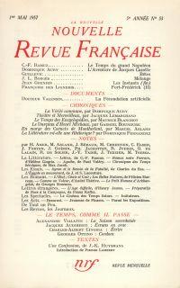 La Nouvelle Nouvelle Revue Française N' 53 (Mai 1957)