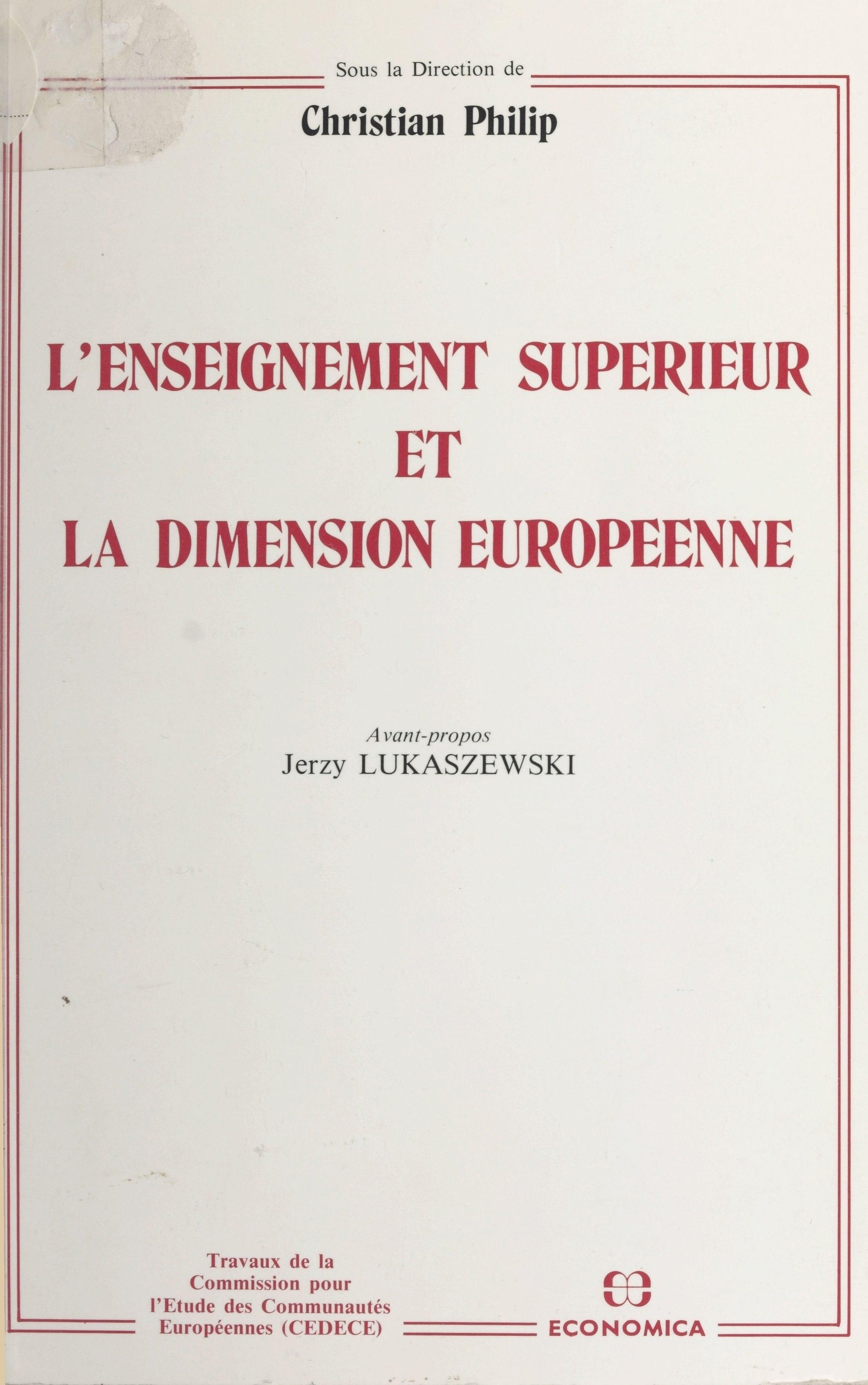 L'enseignement supérieur et la dimension européenne