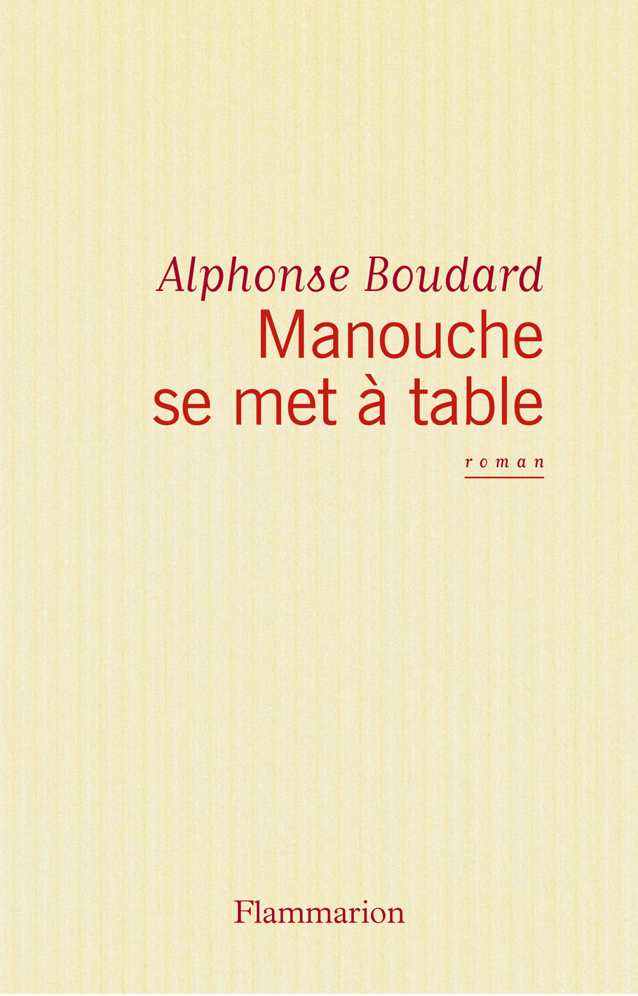 Manouche se met à table