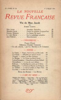 La Nouvelle Revue Française N° 250 (Juillet 1934)