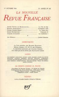 La Nouvelle Revue Française N' 142 (Octobre 1964)