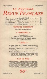 La Nouvelle Revue Française N° 243 (Décembre 1933)